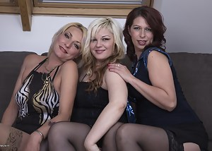 Free Lesbian MILF Orgy Porn Pictures
